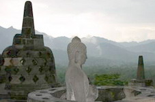 meditation on borobudur